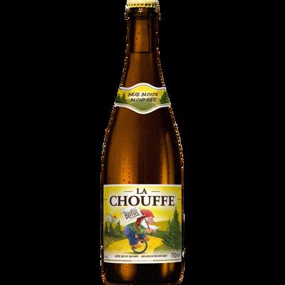 Bière belge blonde LA CHOUFFE, 8°, bouteille de 75cl