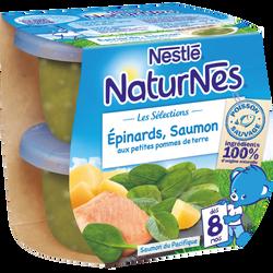 Sélection épinard saumon sauvage aux petites pommes de terre dès 8 mois NATURNES, 2X200G