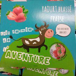 *YAOURT BRASSE FRAISE 4X125G OMBREE D'ANJOU