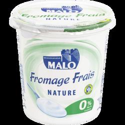 Fromage frais lait pasteurisé nature MALO, 0% de MG, pot de 1kg