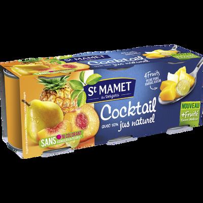 Cocktail de fruits au sirop SAINT MAMET,3x125g