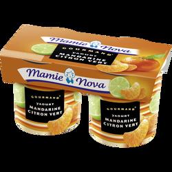 Yaourt gourmand mandarine citron vert MAMIE NOVA, 2x150g