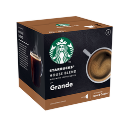 STARBUCKS by dolce gusto house blend, x12 capsules, 102g