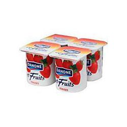 Yaourts fruits fraise, DANONE, 4x125g