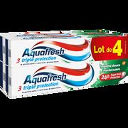 Aquafresh Dentifrice Triple Protection Menthe Douce Aquafresh, 4 Tubes De 75ml