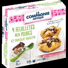 Feuilleté aux poires et chocolat noisette, LA COMPAGNIE ARTIQUE, 4x80g