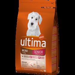Croquettes pour chien senior spécial mini au poulet ULTIMA, 1,5 kg