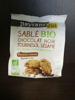 Sablé Chocolat Tournesol Sésame bio 120g Paysans d'ici