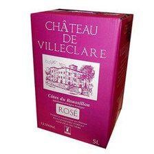 Vin Rosé , AOC Côtes du Roussillon - CHÂTEAU DE VILLECLARE, BIB de 5L