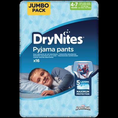Culottes drynites 4-7 boys disney HUGGIES x16 (17-30kg)