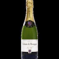 Crémant de Bourgogne brut blanc AOP Louis Villot U, bouteilles de 75cl