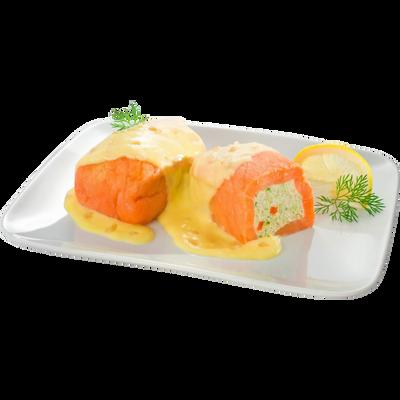 Paupiettes de saumon sauce beurre citron