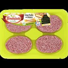 Haché de veau façon bouchère fromage, TENDRIADE, 8 pièces, barquette 800g