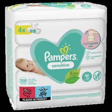 Pampers Lingettes Sensitive Pampers 4x52