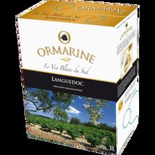 Vin blanc AOP Languedoc Ormarine, fontaine à vin de 3l
