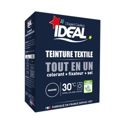 Teinture pour textile marine Tout en Un IDEAL, paquet de 350g
