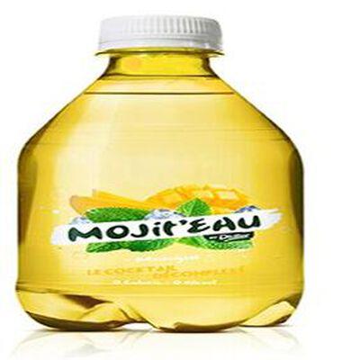 Boisson aromatisée à base d eau minérale gazeuse avec édulcorant « MOJIT EAU   parfum mangue DIDIER, 50 cl