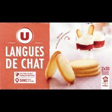 Langue de chat U, paquet de 200g