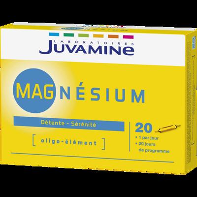 Détente sérénité magnésium JUVAMINE, 20 ampoules à boires