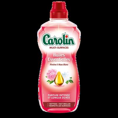 Nettoyant multi-surfaces aux huiles essentielles de pivoine & musc blanc CAROLIN, flacon de 1l