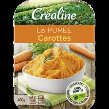 Purée de carottes, CREALINE, barquette 2 x 200g