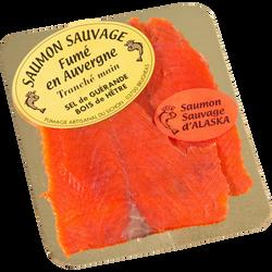 Saumon sauvage fumé Alaska ou Atlantique Nord Est FUMAGE ARTISANAL DUSICHON, 2 tranches soit 80g