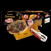 El Pozo Coffret Jambon Serrano Os Et Patte(griffe/couteau)el Pozo 6,5kg