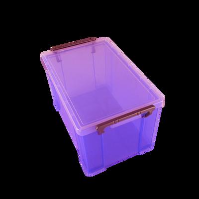Boite de rangement, en polypropylène, 3,7l, violet, idéale pour rangerles accessoires de bureau