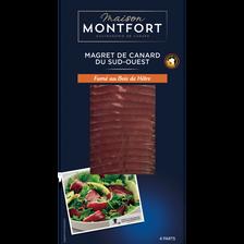 Montfort Magret Canard Tranché Fumé Au Bois De Hêtre, Igp, Maison , France, Barquette 80g