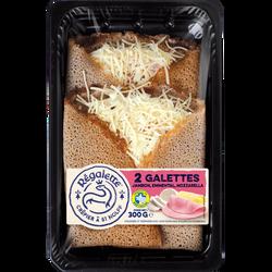 Galettes au jambon, emmental et mozzarella REGALETTE, 2x150g