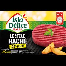 Steack 100% boeuf halal ISLA DELICE, 800g