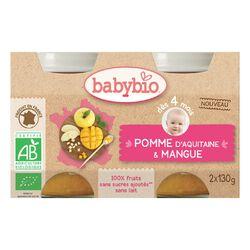Pot Pomme Mangue BABYBIO dès 4 mois 2X130g