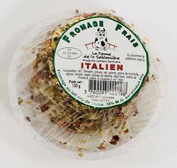 Fromage frais au lait cru de vaches, italien, FERME DE LA SABLONNIERE, 18%mg, 150g
