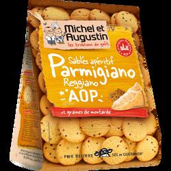 Sablés au parmesan et graines de moutarde MICHEL ET AUGUSTIN, 120g