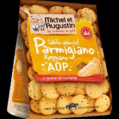 Sablés au parmesan et graines de moutarde MICHEL & AUGUSTIN, 120g