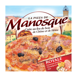 Pizza royale cuite au feu de bois LA PIZZA DE MANOSQUE, 400g