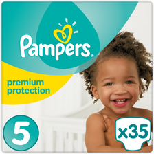 Pampers Couches Premium Protection , Taille 5, 11 À 23kg, X35