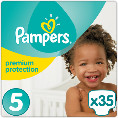 Couches premium protection PAMPERS, taille 5, 11 à 23kg, x35