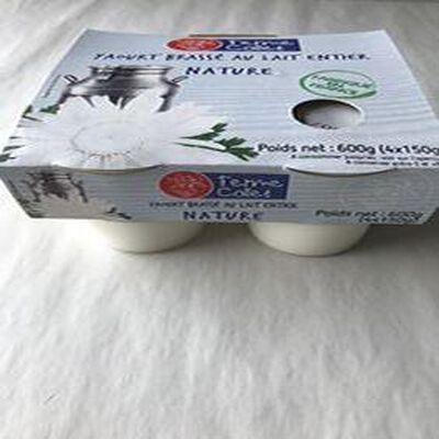 Yaourt brassé au lait entier Nature 4x150g FERME COLLET