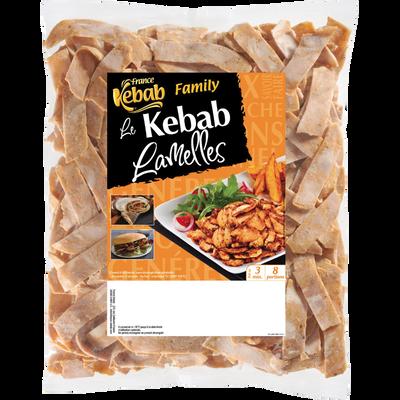 Lamelles de kebab poulet dinde family FRANCE KEBAB, 750g