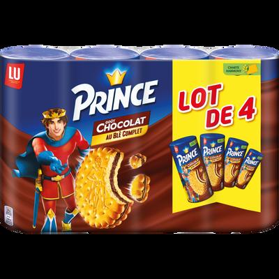 Prince au chocolat LU, 4 paquets de 300g
