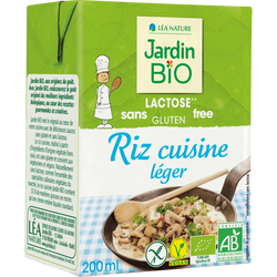 Riz à cuisiner bio JARDIN BIO stérilisée 200ml