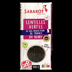 Lentilles vertes du Berry SABAROT étui 500g