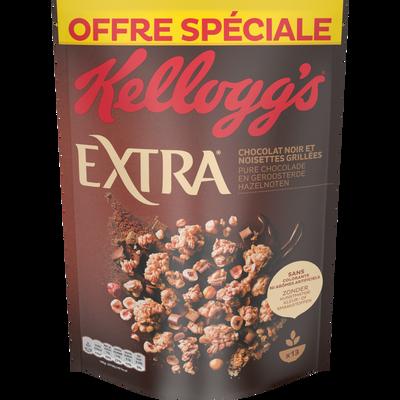 Céréales extra chocolat noir KELLOGG'S, 600g
