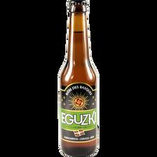 Bière blonde EGUZKI, 5°, bouteille de 33cl