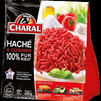 Prêt à cuisiner pur boeuf CHARAL viande origine France, 400g