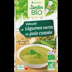 Soupe veloutée JARDIN BIO, Légumes verts Pois cassés, 1l