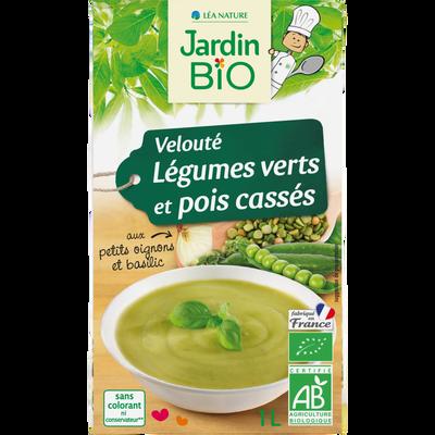 Velout légumes pois cassés JARDIN BIO