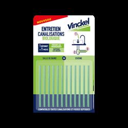 Entretien canalisations VINCKEL, x12 batonnets
