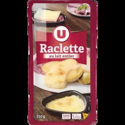 Raclette au lait entier pasteurisé 29% de matière grasse U, 350g